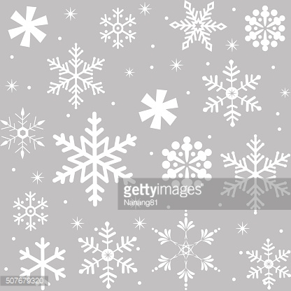 Seamless snowflakes pattern vector design