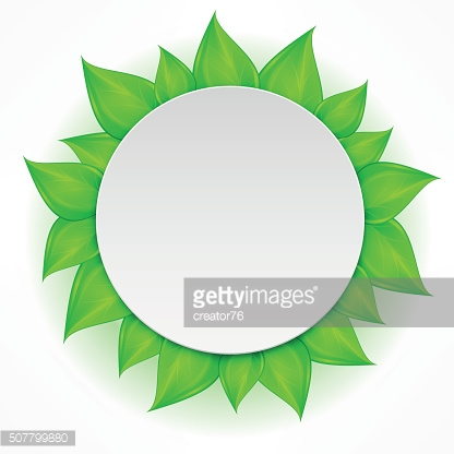 Round leaves icon