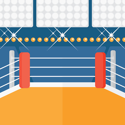 Background of boxing ring