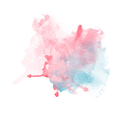 Design of Red and Blue Watercolor Splash for various decor.