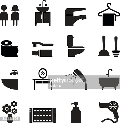 Bathroom , Restroom, Toilet icon set Vector