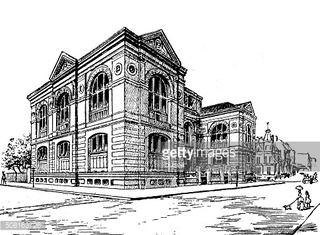 Antique illustration of Lenox Library, New York