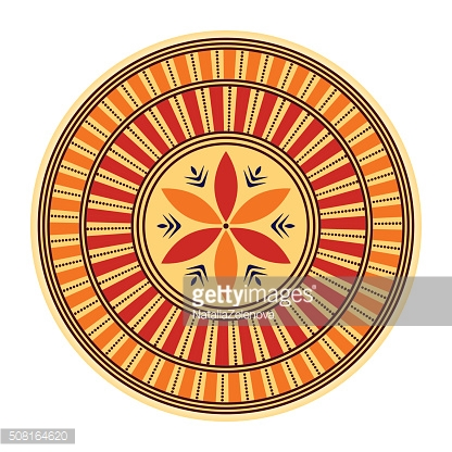 Ornate vector color plate with moroccan style ornament. Oriental background.