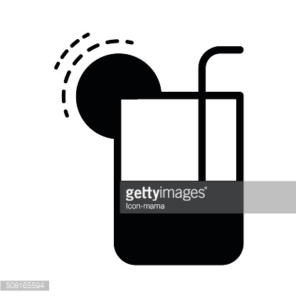 glass drink with tube icon  black color