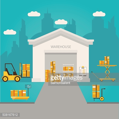 modern vector illustration of shipping and delivery flat elements