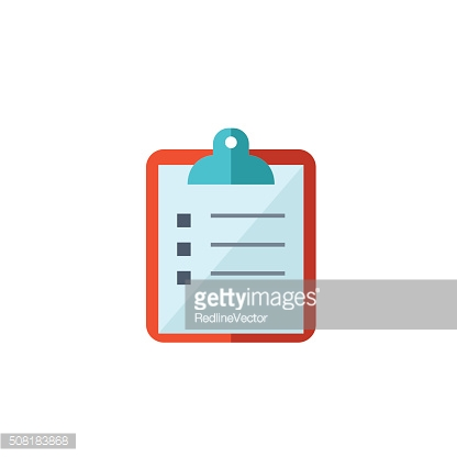 Paper on clipboard icon