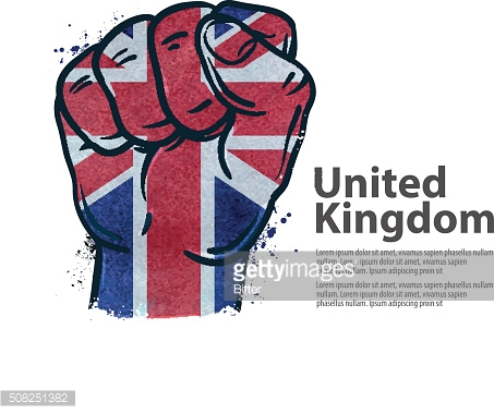 fist. the flag of england, britain, uk. vector illustration