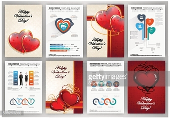 Valentines day backgrounds with infographics