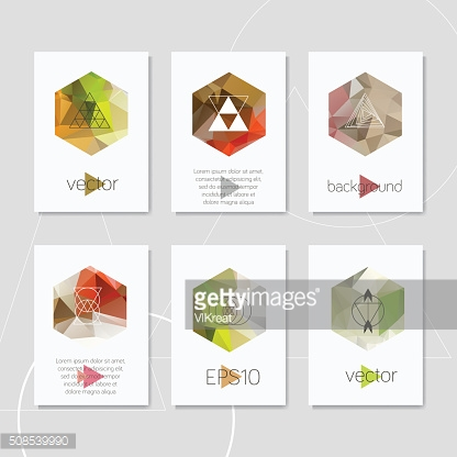 Abstract geometric logo hipster card design