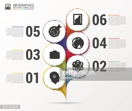 Abstract infographic flower template. Colorful. Vector