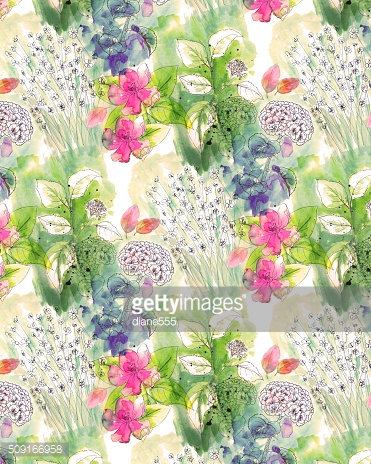 Watercolor Floral Background Pattern