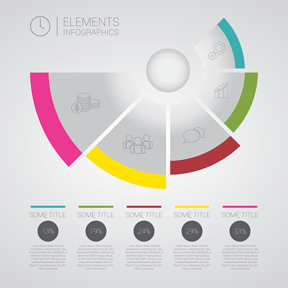 Modern business Infographics circle origami vector