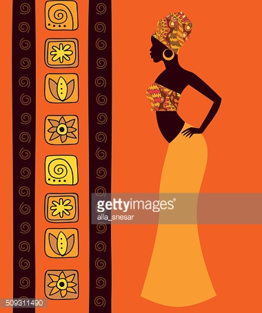 silhouette of a beautiful African woman