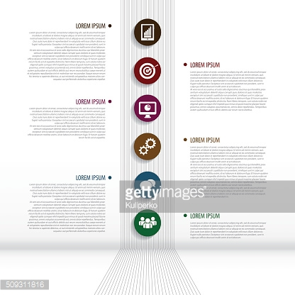 Data infographic business template with icons. Vector