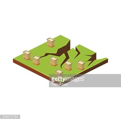 Earth Cracks. Natural Disaster Icon. Vector Illustration