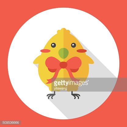 easter chicken flat icon