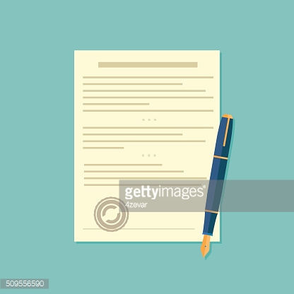 Agreement icon - signing contract