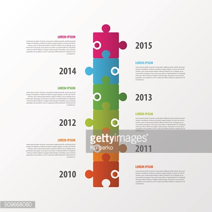Modern infographics design. Timeline. Puzzle concept. Vector