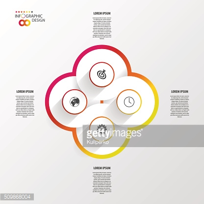 Vector infinity element for infographic. Modern template