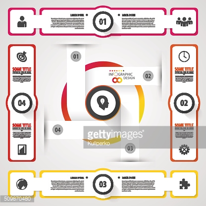 Infographic design on the grey background. Modern template. Vector