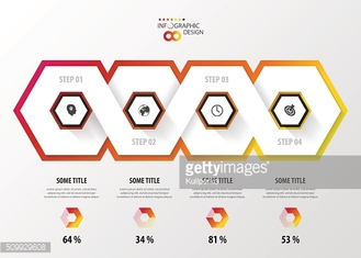 Infographic with honeycomb structure on the grey background. Modern design
