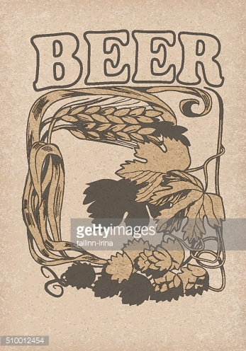 collection of graphic label. graphic  symbol of beer