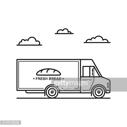American style bread delivery truck.