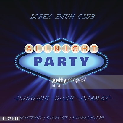 All Bight Party Club Poster Vector