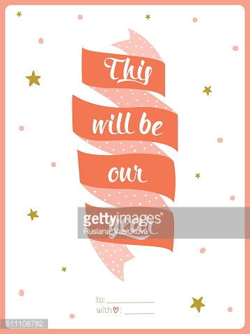Valentines day calligraphic card template