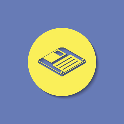 diskette save isometric 3d icon