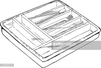 Eating Utensil Tray with Plastic Cover