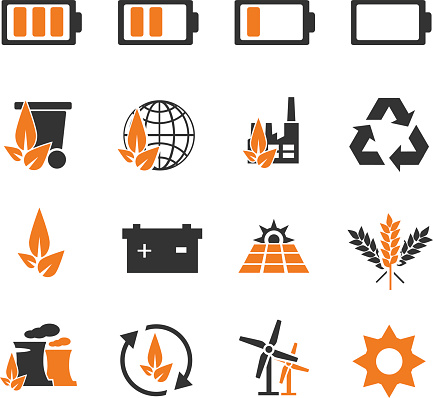 Alternative energy icons