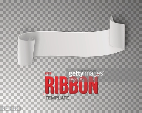White Vector Ribbon Banner. 3D Realistic Vector Banner Isolated