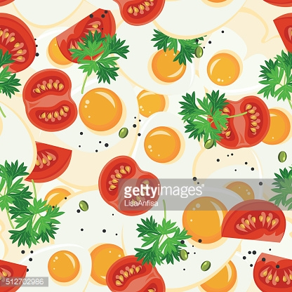 Seamless pattern with vegetable organic food