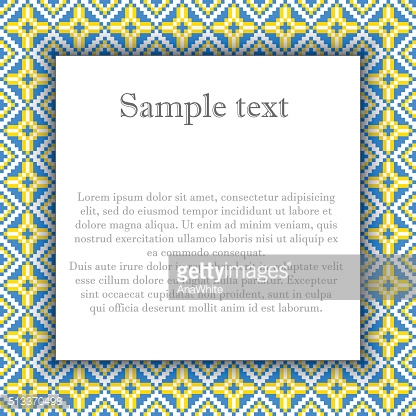 Vector illustration of ukrainian folk frame pattern. Ethnic ornament