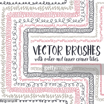 Vector brushes with inner and outer corner tiles.