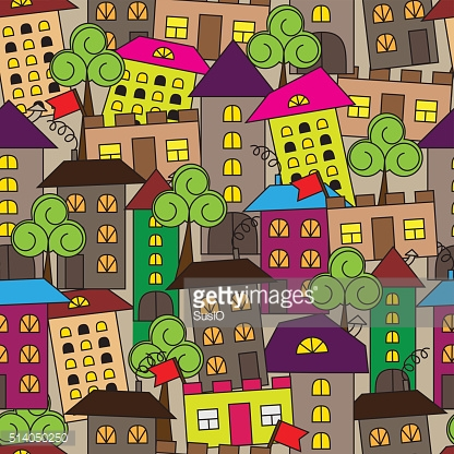 seamless colorful city