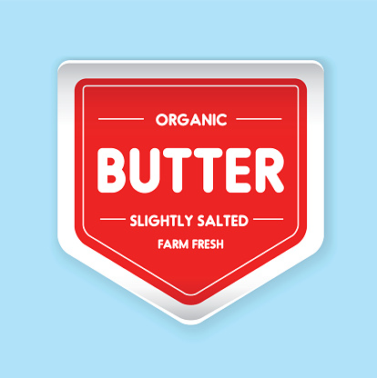 Organic Butter label vector