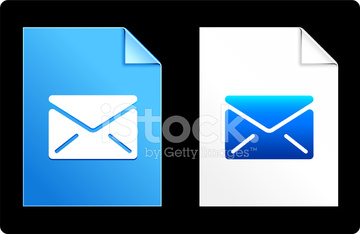 mail  blue design elements