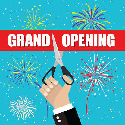 Grand opening with fireworks