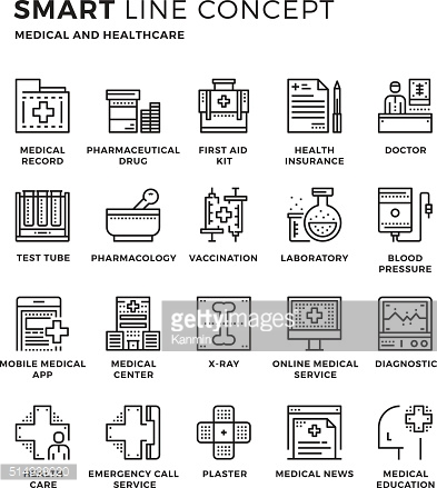 Smartline icon concept Medical and healthcare
