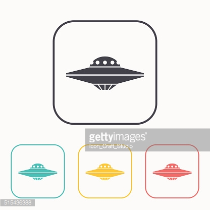 UFO Flying Saucer Icon color set