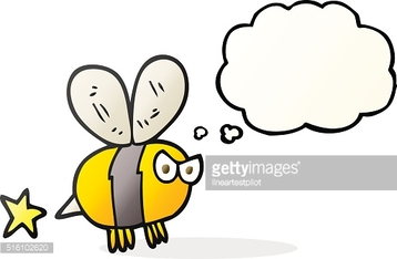 thought bubble cartoon angry bee