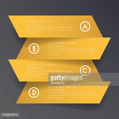 Design flat shadow step number banners /graphic or website. Vect