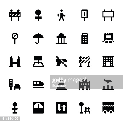 City Elements Vector Icons 6