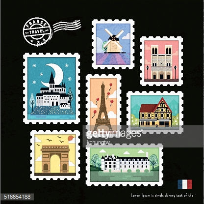 French attraction stamps