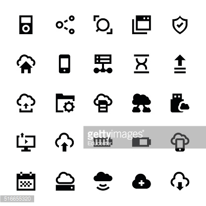Cloud Data Technology Vector Icons 6