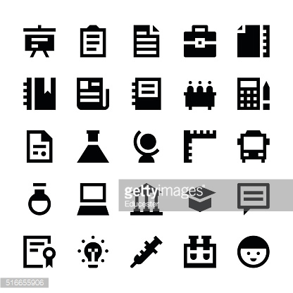Education and School Vector Icons 2