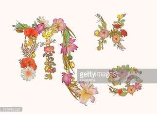 Zodiac of flowers. Water element. Cancer, Scorpius, Pisces.