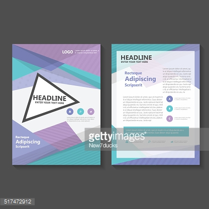 Triangle purple Vector annual report Leaflet Brochure Flyer templates